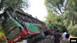 A previous bus accident in Punjab Province last year killed at least 27 people. (file photo)