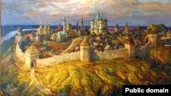 Казань периода Казанского ханства. Картина Фирината Халикова