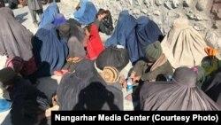 خانوادههای داعشیان تسلیمشده در ننگرهار