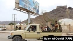 تصویری از نیروهای جداییطلب در بندر عدن