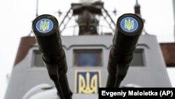Украінскі вайсковы карабель ў Азоўскім моры