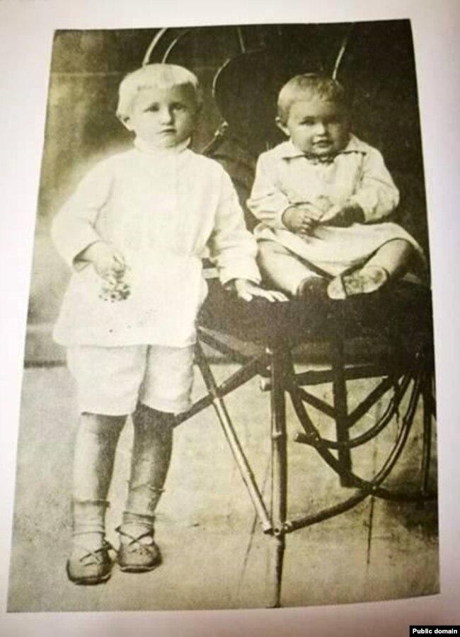 Дзеці пісьменьніка Слава і Рада. 1929 год