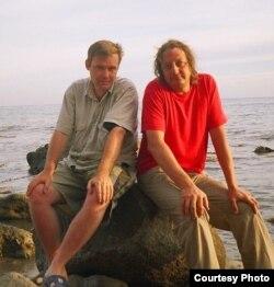Уладзіслаў Ахроменка з Максімам Клімковічам