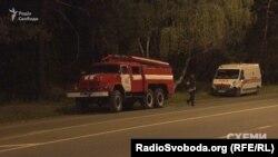 Пожежна машина заправлялася тут?