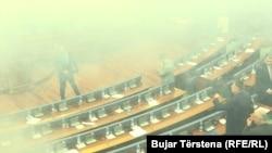 Gaz lotsjellës në Kuvendin e Kosovës