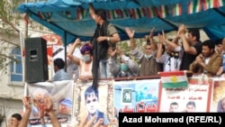 متظاهرون في ساحة السراي في السليمانية