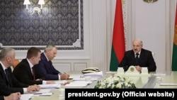 Alyaksandr Lukashenka İclasda, Minsk, 11 aprel, 2019