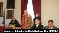 Виступ євродепутата Яна Козловського на зустрічі в Дубенському замку