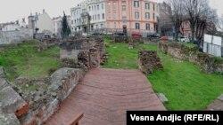Mesto gde je nekada stajala Narodna biblioteka koja je uništena u bombardovanju Beograda 6. aprila 1941.