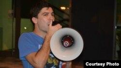 """Кире Василев, активист во движењето """"Солидарност"""" , магистрант по европски студии."""