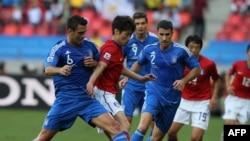 Korea e Jugut gjatë ndeshjes me Greqinë.