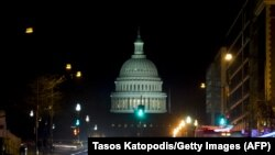 Вашингтон. Түнкү Капитолий.