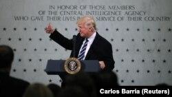 Президент США Дональд Трамп під час відвідання штаб-квартири ЦРУ