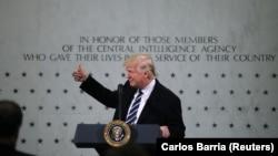 دونالد ترامپ در مقر سیا