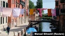 Իտալիա - Վենետիկում կարանտին է, 25-ը ապրիլի, 2020թ.