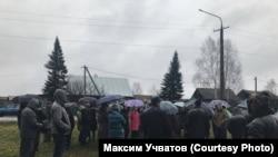 Протест активистов Кузбасса против добычи угля. 25 октября 2017 года.