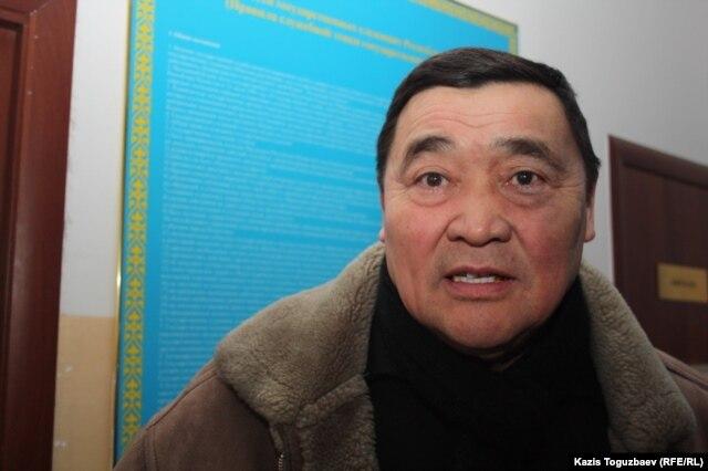 """Рамазан Есергепов, президент правозащитной организации """"Журналисты в беде"""". Алматы, 10 февраля 2014 года."""