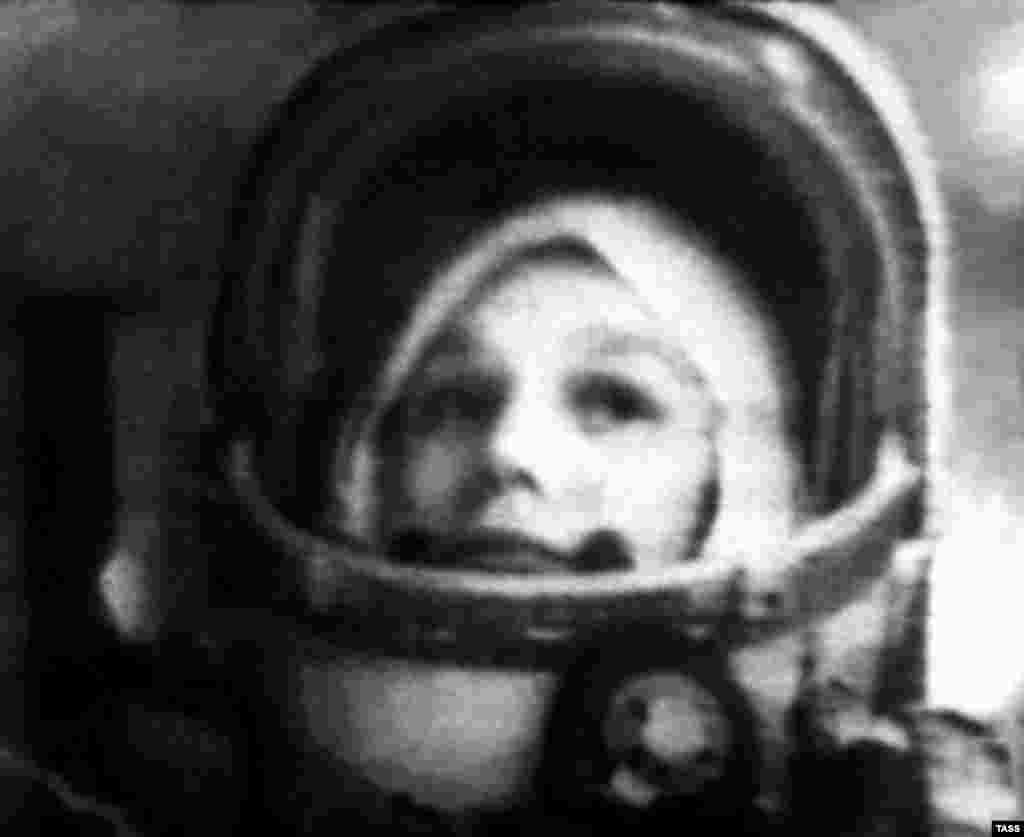 "The Chinese mission was scheduled for launch 49 years to the day after Russian Valentina Tereshkova, seen here aboard her ""Vostok 6"" spacecraft, became the first woman in space on June 16, 1963."