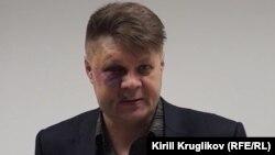 Григорий Винтер после нападения на него неизвестного. Март 2018 года