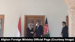 د اندونیزیا د بهرنیو چارو وزیره ریتنو مارسودي له افغان سیال سره