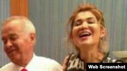 Ныне покойный первый президент Узбекистана Ислам Каримов со старшей дочерью Гульнарой.