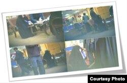 عکس «مرکز خبر دانشجو» از «حضور» زهرا رهنورد در بانک