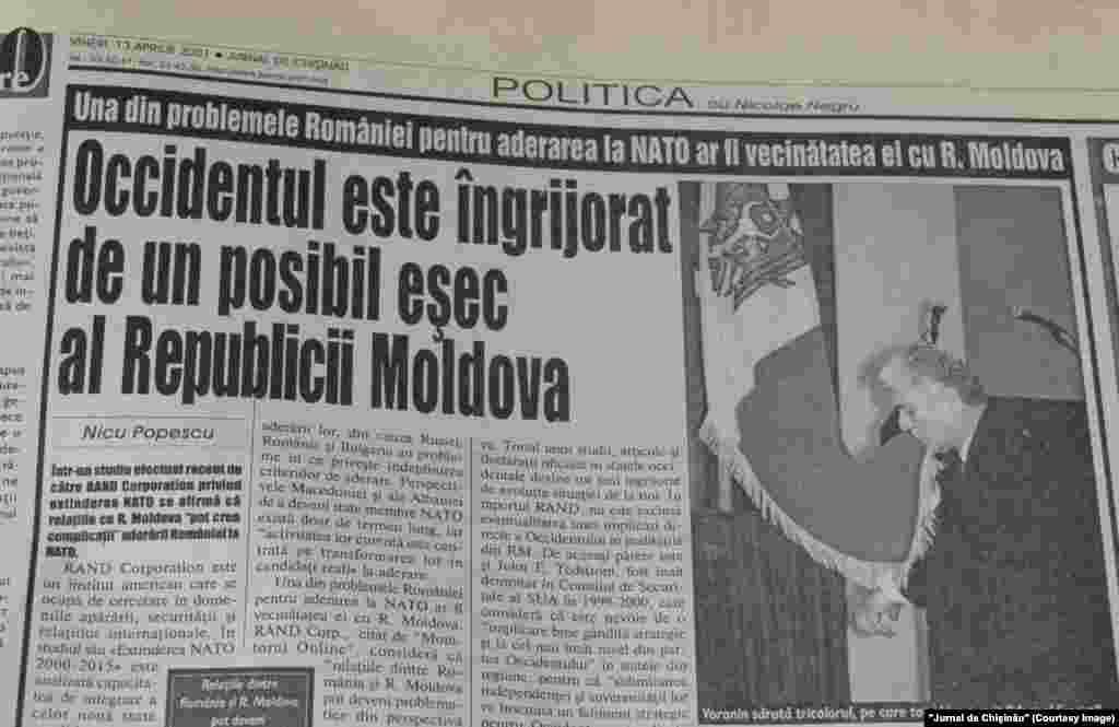 """""""Jurnal de Chişinău"""", 13 aprilie 2001"""