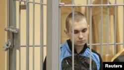 Дмитрий Коновалов, обвиняемый во взрывах в минском метро, в Верховном суде Белоруссии