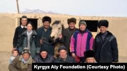 Нусратилла кыргыз жылкы фермасында