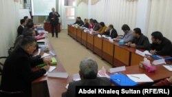 جانب من جلسات دورة لمدراء المؤسسات الثقافية في دهوك
