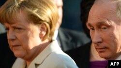 Ангела Меркел ва Владимир Путин