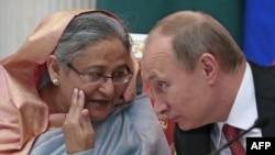 Премьер-министр Бангладеш Шейх Хасина и президент России Владимир Путин