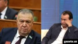 Здание, находящееся по улице Бабура в Ташкенте, остается головной болью для министров культуры Узбекистана. На фото: прежний и нынешний министры культуры Узбекистана Бахтияр Сайфуллаев (слева) и Озодбек Назарбеков.