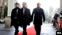 Претставници на Беса, предводени од лидерот Биљал Касами
