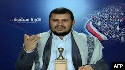 Відеокадр: лідер угруповання Хуті, Абдель-Малек аль-Хуті, виступає на телеканалі ліванського шиїтського угруповання «Хезболла», 20 січня 2015 року