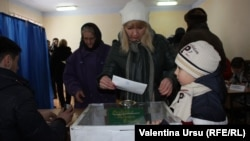 People vote during a referendum in the southern Moldovan autonomous region of Gagauzia on February 2.