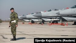 МіГ-29 на території військового аеропорту поблизу Белграда, Сербія, 20 жовтня 2017 року