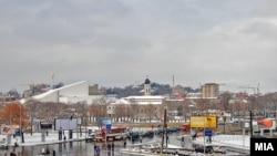 Скопје во зима.