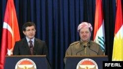 بارزاني ووزير خارجية تركيا في أربيل