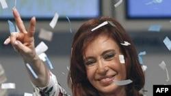 Переизбранный президент Аргентины Кристина Фернандес.