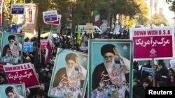 Иранда бүген узучы демонстрацияләрдән бер күренеш