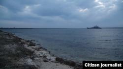 Один із заблокованих у Донузлаві кораблів, «Костянтин Ольшанський»