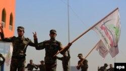 Бойцы иракского ополчения в районе Тикрита.