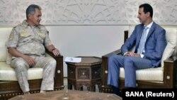 Սիրիայի նախագահ Բաշար ալ-Ասադը Դամասկոսում ընդունում է Ռուսաստանի պաշտպանության նախարար Սերգեյ Շոյգուին, արխիվ