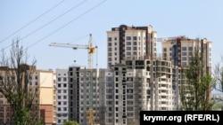 Зведення будинків у Сімферополі, архівне фото