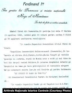 Decretul regal, 9 aprilie 1918 (p. 1)