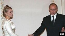 Архівна фотографія. Прем'єр-міністр України Юлія Тимошенко із тодішнім президентом Росії Володимиром Путіним. Москва, 20 лютого 2008 р.