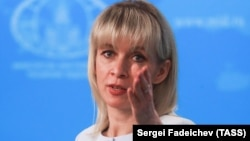 Russian Foreign Ministry spokeswoman Maria Zakharova (file photo)