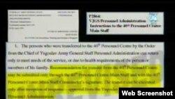 докази во случајот против Перишиќ