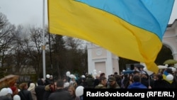 "Ukraine -- Action ""for peace and unity of Ukraine"" in Simferopol, 07Mar2014"